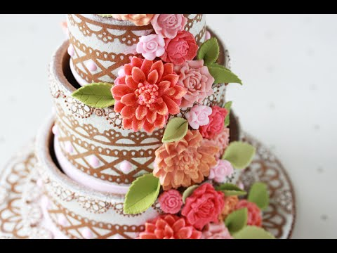 How to Make 3-D Contoured Wedding Cake Cookies (Part 1 - The Sides)