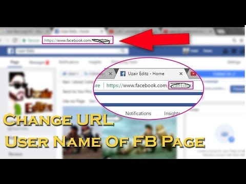How to change facebook username and page url