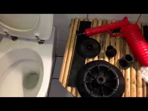 How to clean a clogged toilet drain with pango pipe cleaner unclogging a toilet