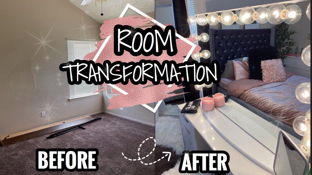 EXTREME SMALL BEDROOM TRANSFORMATION | GLAM & GIRLY ROOM DECORATION IDEAS | Before & After |Taisha