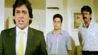 Govinda teaches lesson to Raja Bundela and Dilip Dhawan - Swarg, Scene 14/14