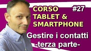 # 27 Gestire i contatti - terza parte- Maggiolina - Corso Tablet e Smartphone