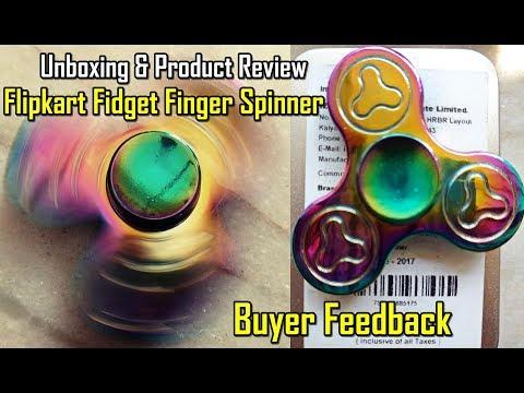 Flipkart Fidget Spinner Unboxing | Metal Finger / Hand Fidget Spinner Product Buyer Review