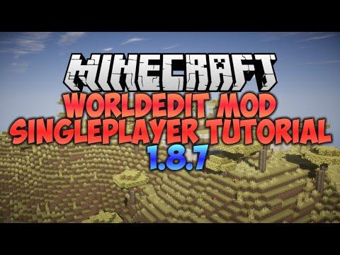 Minecraft : WORLDEDIT SINGLEPLAYER (WorldeditWrapper) (Tutorial 1.8.7)