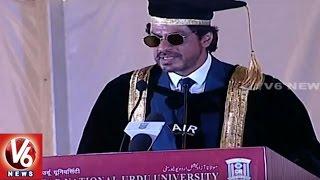 Shah Rukh Khan Speech At Maulana Azad National Urdu University Convocation Ceremony | V6 News