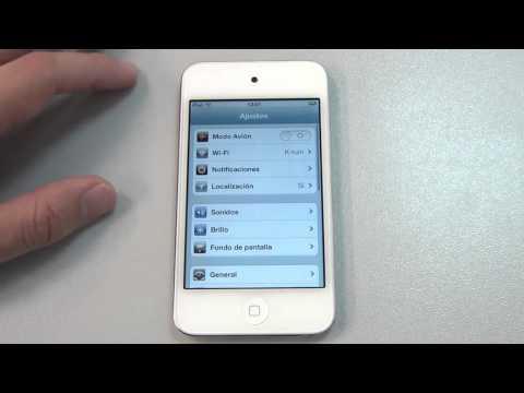 iPod touch blanco con iOS 5