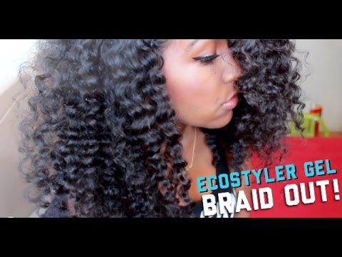 Natural Hair | Perfect EcoStyler Gel Braid Out