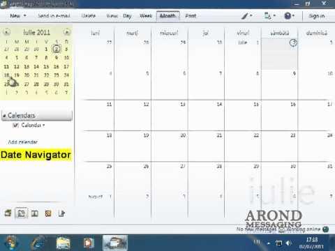 Using Windows 7 - Navigate the Calendar