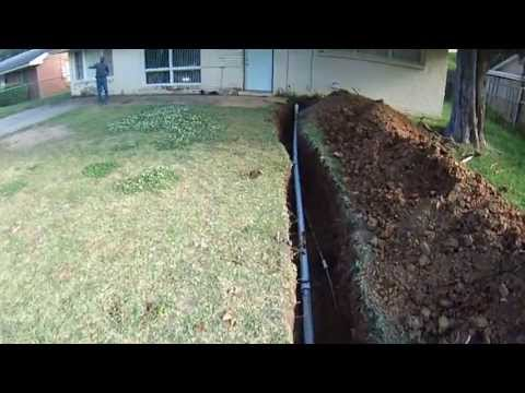 Big John's Service Co, Replacing a Sewer Line on my Birthday, May 10, 2013, Part 2
