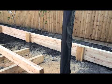 Making a Raised flower bed