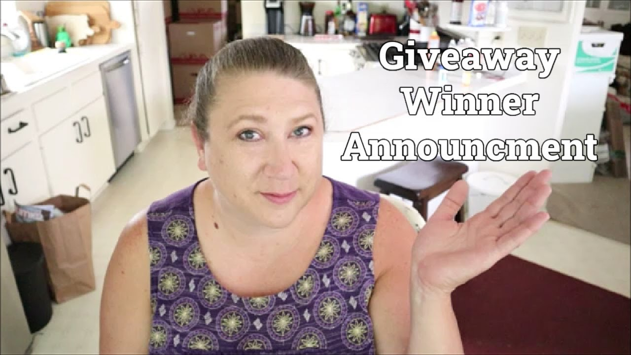 Giveaway Winner Announcement
