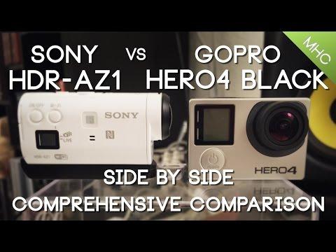 Sony HDR-AZ1 vs GoPro Hero4 BLACK HD