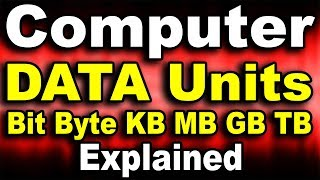 Computer Data Memory Units Explained In Detail Tutorial Bit Byte Kb M