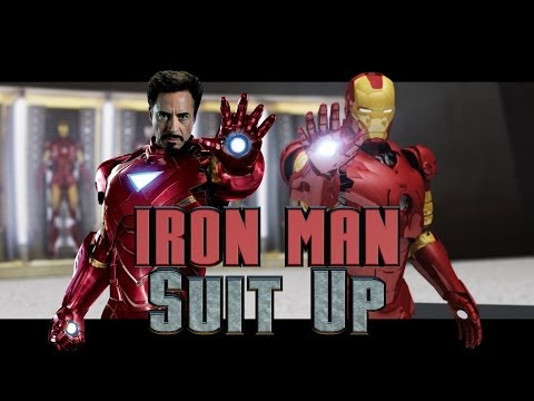 IRON MAN — Suit Up (Movie vs 3ds Max Animation)