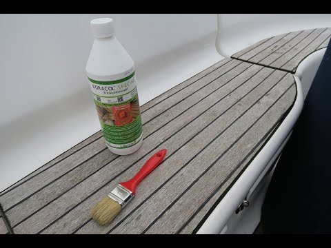 How to treat your teak with Boracol - keeps algae and mold away for two years