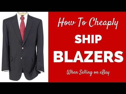 How to Ship on eBay for Cheap - Shipping Clothing : Blazers, Suit Jacket, & Sportcoats