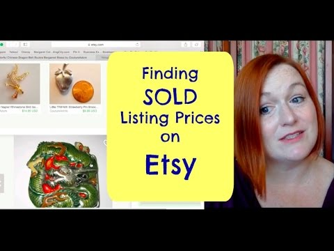 How to Find SOLD Listing Prices on Etsy