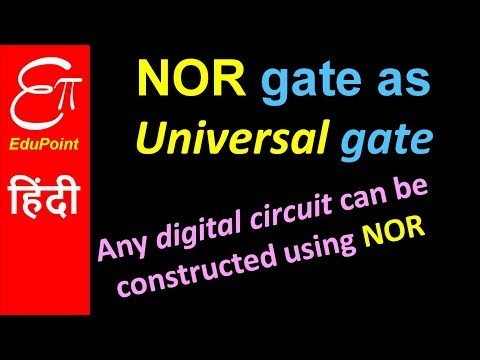NOR gate as universal gate   video in HINDI