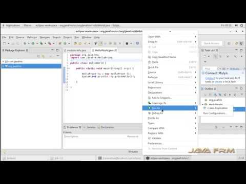 Eclipse 2018-12 Installation on Oracle Linux 7 and Java 11 Modular Programming