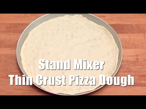 Stand Mixer Thin Crust Pizza Dough (Med Diet Episode 125) DiTuro Productions