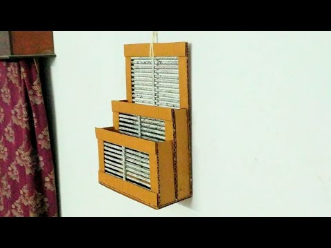 How to make a newspaper wall rack (also using cardboard)