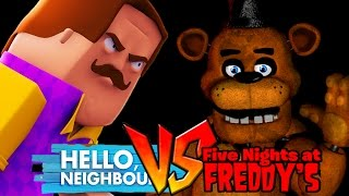 Minecraft - HELLO NEIGHBOUR VS FIVE NIGHTS AT FREDDY