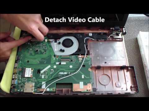 Asus X551M Disassembly for DC Jack Repair