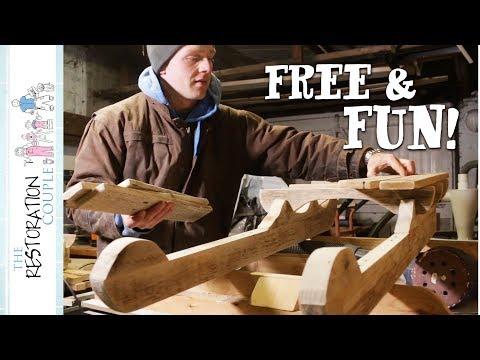 Building Pallet Wood Toboggans