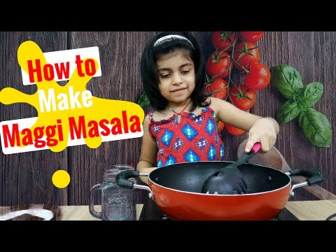 5 year Kid making Maggi Masala | Kids Cooking | Simple Maggi Recipe