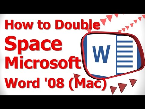 How to Double Space Microsoft Word '08 Mac