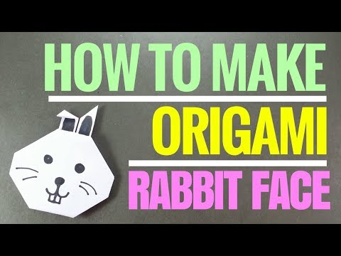 How to Make Origami Rabbit Face - Easy Origami Paper Rabbit - Fun DIY Origami Tutorial for Beginners