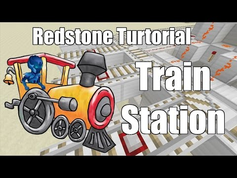 Minecraft Xbox 360 / Xbox One / PS3 / PS4 - Redstone Tutorial - Train Station