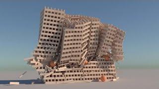 KEVA Plank Demolition - LuxRender (4K)