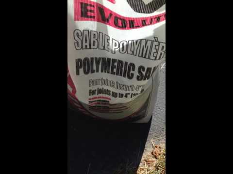 How to fix driveway cracks using polymeric sand