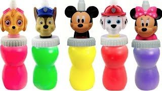 Learn with Paw Patrol Mickey Mouse Slime Surprise Toys Colours   Fizzy Fun Toys