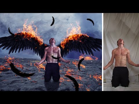 Burning demon fantasy photo manipulation | photoshop tutorial cs6/cc
