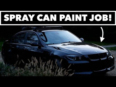 I PAINTED MY BMW WITH SPRAY CANS! // How To Paint a Car DIY