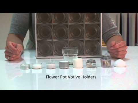 Flower Pot Votive Holders