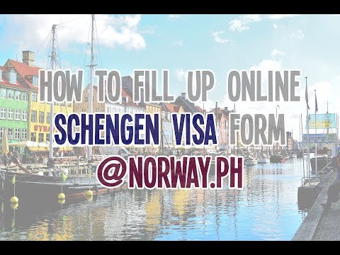 Fill Schengen Visa Application Form Norway Embassy in Manila