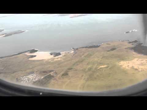 Landing into Carrickfinn Airport, Co.Donegal, Ireland