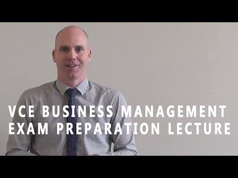 VCE Business Management - Exam Preparation Lecture 2017