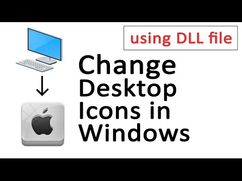 How to change desktop icons in Windows 7/8/10 | How to create a DLL file