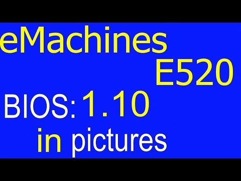 rd #244 Acer eMachines E520 BIOS settings in pictures