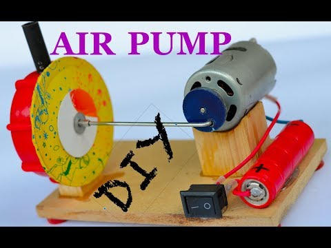 How to make an Air Pump out of DC Motor