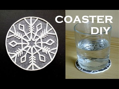 DIY Snowflake COASTER (Time-Lapse) - Polymer Clay