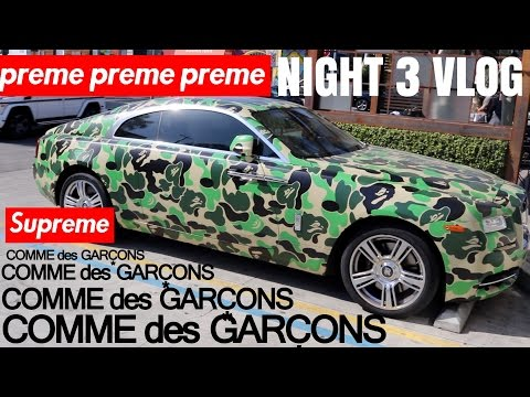 SUPREME x CDG NIGHT 3 VLOG