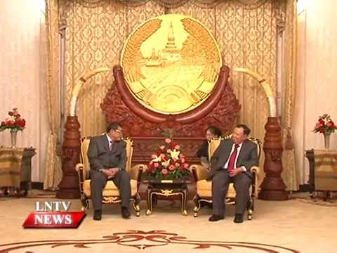 Lao NEWS on LNTV: Officials from Laos & Cambodia to discuss cooperation in drug control.28/4/2015