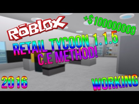 ROBLOX   RETAIL TYCOON 1.1.5 UNLIMITED MONEY! (2016)  (WORKING) (C.E)
