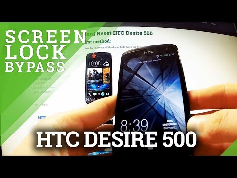 Hard Reset HTC Desire 500 - bypass screen lock protection