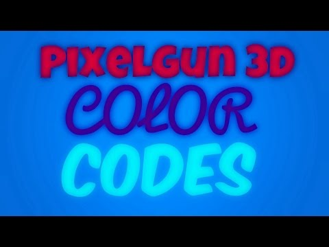 How to change the color of your name [PixelGun 3D]